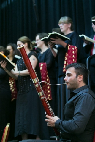 Bassoonist from Qatar Philharmonic Orchestra performing with Qatar Concert Choir