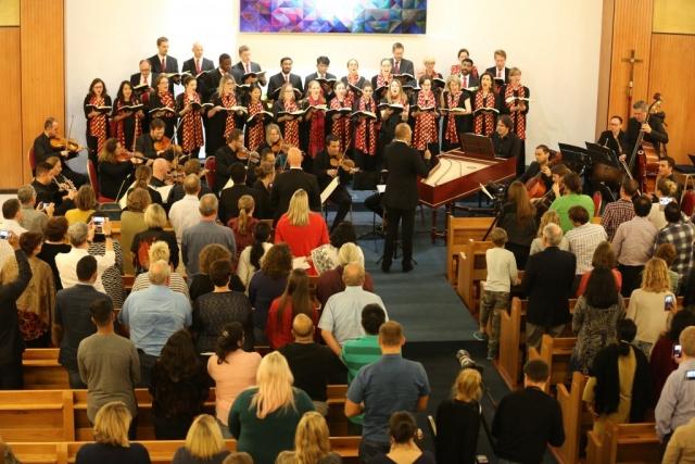 Qatar Concert Choir performing Handel