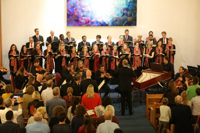 Qatar Concert Choir performing Handel