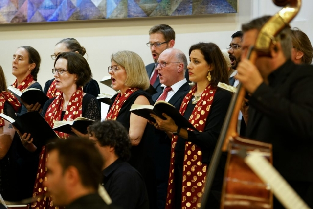 Qatar Concert Choir performing Handel with musicians from Qatar Philharmonic Orchestra