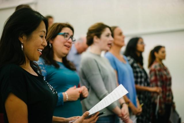 Qatar Concert Choir Altos and Sopranos at rehearsal