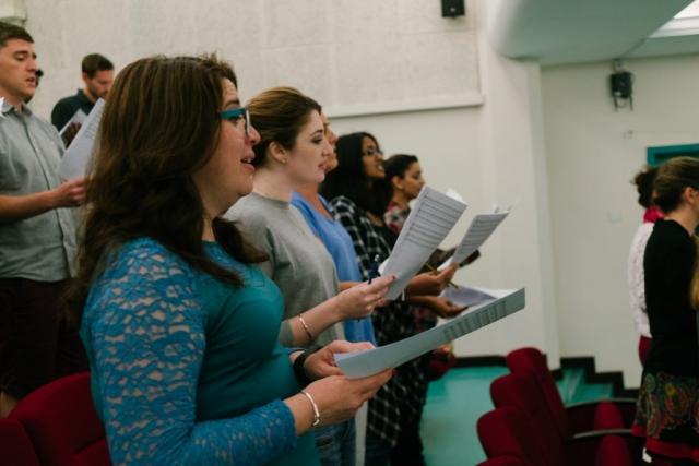 Qatar Concert Choir rehearsal